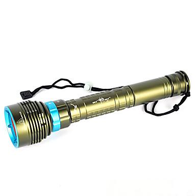 olcso Elemlámpák-LED zseblámpák Kézi elemlámpák LED LED Sugárzók 10000 lm 1 világítás mód Vízálló Professzionális Ütésvédelem Kempingezés / Túrázás / Barlangászat Búvárkodás / Hajózás Vadászat Erdőzöld