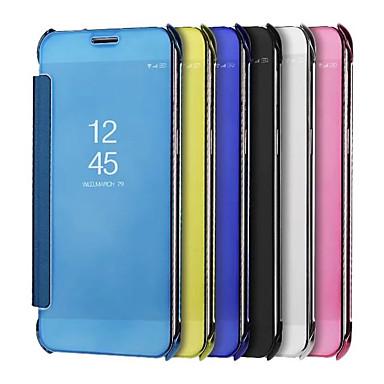 voordelige Galaxy S-serie hoesjes / covers-hoesje Voor Samsung Galaxy S9 / S9 Plus Beplating / Spiegel Volledig hoesje Effen Kleur Hard PU-nahka