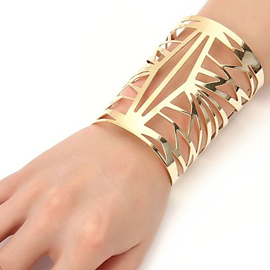 492fc89d207 cheap Bracelets-Women's Bracelet Bangles Cuff Bracelet Ladies Fashion  Oversized Steel