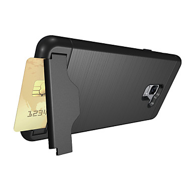 voordelige Galaxy A-serie hoesjes / covers-hoesje Voor Samsung Galaxy A8+ 2018 Kaarthouder / met standaard Achterkant Effen Kleur Hard PC