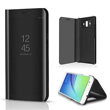 voordelige Huawei Mate hoesjes / covers-hoesje Voor Huawei Mate 10 / Mate 10 pro / Mate 10 lite met standaard / Spiegel Volledig hoesje Effen Hard PU-nahka / Mate 9 Pro