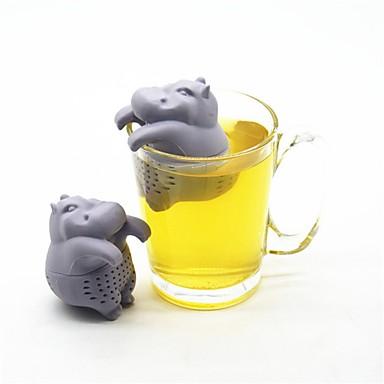 Hippo forme thé infuseur silicone réutilisable passoire à thé café herbe filtre sacs à thé