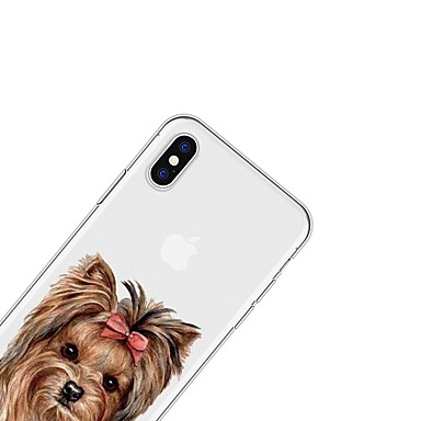 X per disegno Con 8 06639389 Custodia TPU X Per Apple Fantasia cagnolino Plus Morbido Per animati iPhone iPhone retro Animali iPhone Cartoni wq8URP