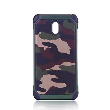 voordelige Galaxy J-serie hoesjes / covers-hoesje Voor Samsung Galaxy J7 Prime / J7 (2017) / J7 (2016) Schokbestendig / Schild Achterkant Camouflage Kleur Hard PC