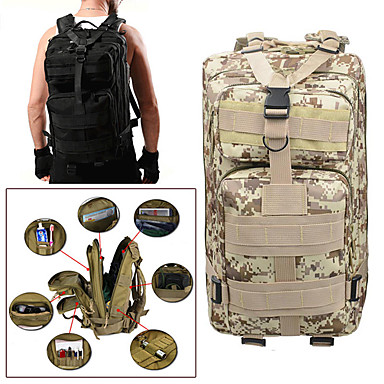 c5fef9059e Ruksaci Vojni taktički ruksak 25 L - Otporno na kišu Podesan za nošenje  Vanjski Kampiranje Vojni