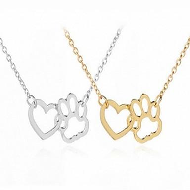 Női Nyaklánc medálok Szív Egyszerű Divat Szeretetreméltő Arany Ezüst 40 cm Nyakláncok Ékszerek Kompatibilitás Napi