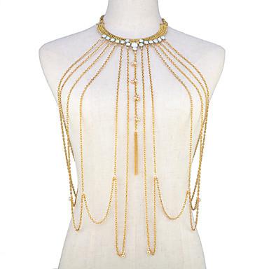 رخيصةأون مجوهرات الجسم-نسائي مجوهرات الجسم 45 cm سلسلة بطن / Magekjede ذهبي سيدات / بيكيني / موضة سبيكة مجوهرات من أجل مناسب للخارج / بيكيني الصيف
