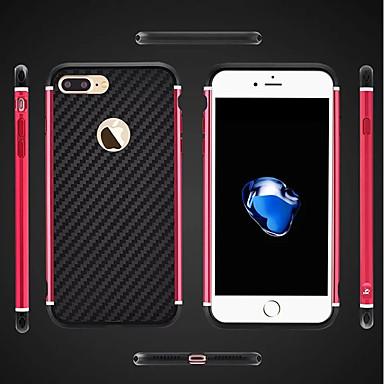 ieftine Carcase iPhone-Maska Pentru Apple iPhone 8 Plus / iPhone 8 / iPhone 7 Plus Anti Șoc / Placare / armură Capac Spate armură Greu MetalPistol