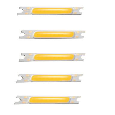 economico Accessori LED-zdm 5 pz pannocchia 3 w dc 12 v bianco caldo / freddo bianco freddo / lampadina accessorio led chip di alluminio per diy led luce di inondazione riflettore