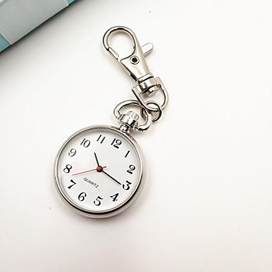Women's Pocket Watch Keychain Watch Quartz Silver Casual Watch Analog Ladies Vintage Fashion Minimalist - Silver One Year Battery Life / Tianqiu 377