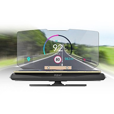 ZIQIAO Universal Car GPS HUD Head Up Display Holder for Car Display KM/h MPH