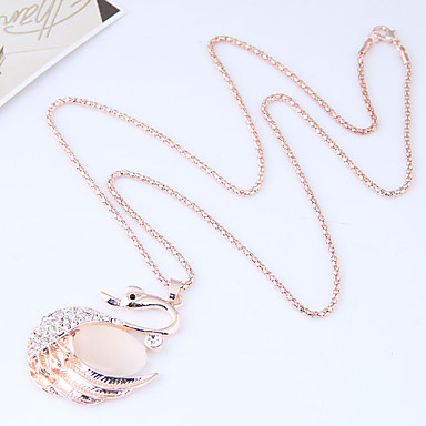 preiswerte Halsketten-Damen Pendant Halskette Lang Schwan Tier damas Europäisch Modisch Aleación Gold Modische Halsketten Schmuck Für Normal
