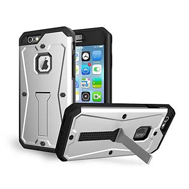 voordelige iPhone 5 hoesjes-hoesje Voor Apple iPhone 8 Plus / iPhone 8 / iPhone 7 Plus Schokbestendig / met standaard Achterkant Schild Hard Siliconen