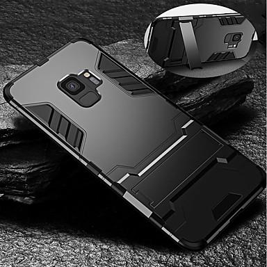 Недорогие Чехлы и кейсы для Galaxy S6 Edge-Кейс для Назначение SSamsung Galaxy S9 / S9 Plus / S8 Plus Защита от удара / со стендом Кейс на заднюю панель броня Твердый ТПУ