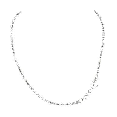 hesapli Moda Kolyeler-Gerdanlıklar Kuş Bayan alaşım Gümüş 52.3 cm Kolyeler Mücevher Uyumluluk Parti / Gece Okul