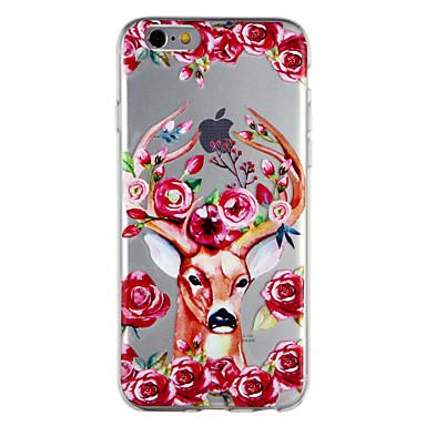 Fiore Plus Apple Animali Fantasia TPU 8 06624387 iPhone Per 7 iPhone Custodia iPhone 8 Per per retro disegno Morbido decorativo Transparente 1HA5wxP