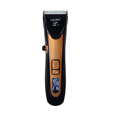 halpa Hiustenleikkuukone-usb keraaminen r-terä hiusleikkuri ladattava  hiusleikkuri 4x ylimääräinen rajoittava kampa hiljainen 22908c0841