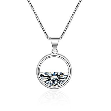 Dame Diamant Kvadratisk Zirconium Halskædevedhæng geometrisk Damer Koreansk Mode Zirkonium Legering Hvid 55 cm Halskæder Smykker Til Ceremoni Ferie