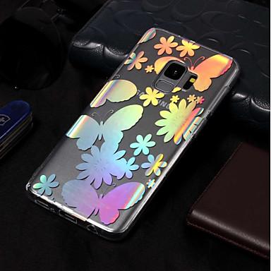 Недорогие Чехлы и кейсы для Galaxy S3-Кейс для Назначение SSamsung Galaxy S9 / S9 Plus / S8 Plus Покрытие / С узором Кейс на заднюю панель Бабочка Мягкий ТПУ