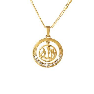 billige Mode Halskæde-Halskædevedhæng Tro Damer Etnisk Guld Sølv Rose Guld 55 cm Halskæder Smykker Til Gave Daglig