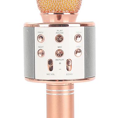 billige Audio & Video Tilbehør-WS858 Trådløs / Bluetooth mikrofon Annen dynamisk Mikrofon håndholdt Mikrofon / Mote Til Bar / Karaoke Mikrofon