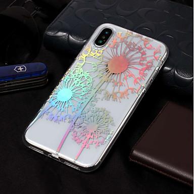 voordelige iPhone 5 hoesjes-hoesje Voor Apple iPhone X / iPhone 8 Plus / iPhone 8 Beplating / Patroon Achterkant Paardebloem / Bloem Zacht TPU