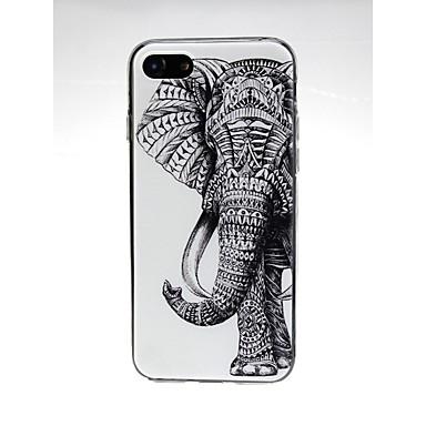 voordelige iPhone 6 Plus hoesjes-hoesje Voor Apple iPhone X / iPhone 8 Plus / iPhone 8 Ultradun / Patroon / Schattig Achterkant dier / Olifant Zacht TPU