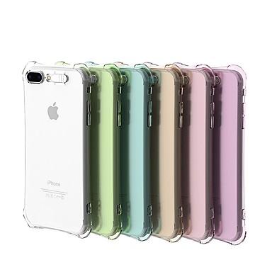 voordelige iPhone 5 hoesjes-hoesje Voor Apple iPhone X / iPhone 8 Plus / iPhone 8 Schokbestendig / LED-knipperlicht / Transparant Achterkant Effen Zacht TPU