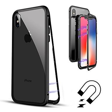 Capinha Para Apple iPhone 8 / iPhone 8 Plus / iPhone XS Flip / Transparente Capa Proteção Completa Sólido Rígida Vidro Temperado para iPhone XS / iPhone XR / iPhone XS Max