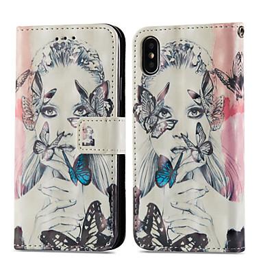 magnetica Resistente iPhone chiusura Per Sexy 06715451 carte Con di Porta Custodia credito iPhone 8 supporto Con Farfalla X Apple Integrale p6wEwU