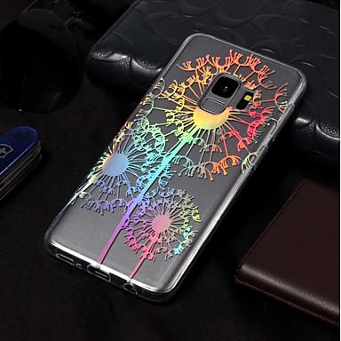 Недорогие Чехлы и кейсы для Galaxy S6 Edge-Кейс для Назначение SSamsung Galaxy S9 / S9 Plus / S8 Plus IMD / С узором Кейс на заднюю панель одуванчик Мягкий ТПУ