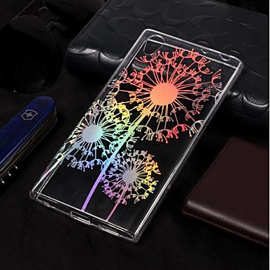 voordelige Hoesjes / covers voor Sony-hoesje Voor Sony Xperia L2 / Sony Xperia L1 Beplating / Patroon Achterkant Paardebloem Zacht TPU