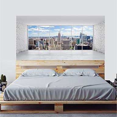 لواصق حائط مزخرفة / ملصقات الباب - لواصق حائط الطائرة / لواصق تجريدي / مناظر طبيعية غرفة الجلوس / غرفة النوم