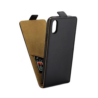 Недорогие Кейсы для iPhone-Кейс для Назначение Apple iPhone X IMD Чехол Однотонный Мягкий Кожа PU