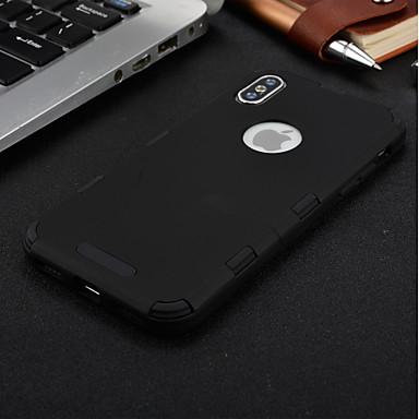 voordelige iPhone 7 hoesjes-hoesje Voor Apple iPhone X / iPhone 8 Plus / iPhone 8 Waterbestendig / Schokbestendig / Transparant Volledig hoesje Effen Zacht TPU