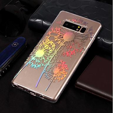voordelige Galaxy Note-serie hoesjes / covers-hoesje Voor Samsung Galaxy Note 8 Beplating / Patroon Achterkant Paardebloem Zacht TPU