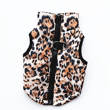 cheap Dog Clothing & Accessories-Dogs Cats Pets Dog Clothes Solid Colored Print Camo / Camouflage Pink Black Leopard Cotton Costume For Corgi Beagle Shiba Inu Fall Female Casual / Daily Keep Warm