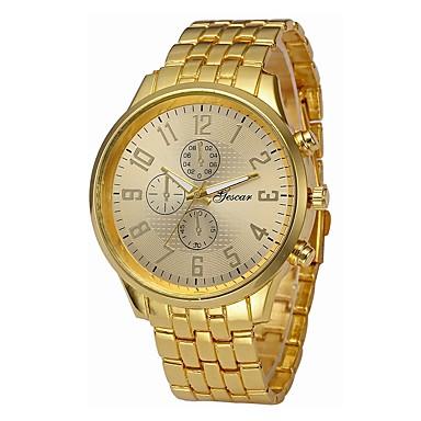 Недорогие Часы на металлическом ремешке-Муж. Спортивные часы Наручные часы Кварцевый Нержавеющая сталь Черный / Серебристый металл / Золотистый Секундомер Повседневные часы Крупный циферблат Аналоговый Винтаж На каждый день -  / Один год