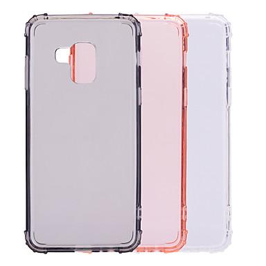 voordelige Galaxy A-serie hoesjes / covers-hoesje Voor Samsung Galaxy A5(2018) / Galaxy A7(2018) / A8 2018 Schokbestendig / Transparant / Doorzichtig Achterkant Effen Zacht TPU