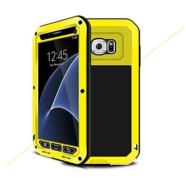 Недорогие Чехлы и кейсы для Galaxy S6-Кейс для Назначение SSamsung Galaxy S7 / S6 / S5 Защита от удара / Защита от влаги / броня Чехол броня Твердый Металл