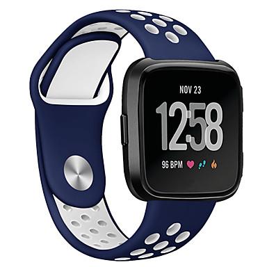 billige Ukentlige tilbud-Klokkerem til Fitbit Versa Fitbit Sportsrem Silikon Håndleddsrem