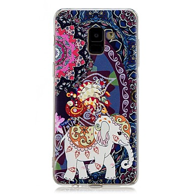 voordelige Galaxy A-serie hoesjes / covers-hoesje Voor Samsung Galaxy A5(2018) / Galaxy A7(2018) / A5 (2017) Patroon Achterkant Olifant Zacht TPU