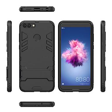 billige Etuier/covers til Huawei-Etui Til Huawei P smart Stødsikker / Med stativ Bagcover Rustning Hårdt PC for P smart