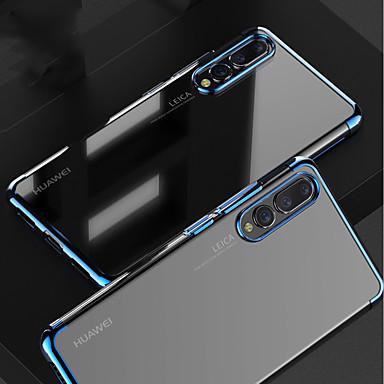 economico Custodie per tablet-Custodia Per Huawei MediaPad P20 / P20 Pro Placcato / Transparente Per retro Tinta unita Morbido TPU per Huawei P20 / Huawei P20 Pro / Huawei P20 lite