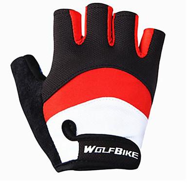 WOSAWE نصف الإصبع للجنسين دراجة نارية قفازات خامة شبكية تسمح بمرور الهواء متنفس / سترة واقيه / غير زلة