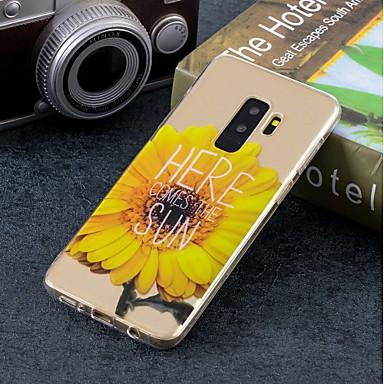 غطاء من أجل Samsung Galaxy S9 / S9 Plus / S8 Plus IMD / نموذج غطاء خلفي زهور ناعم TPU