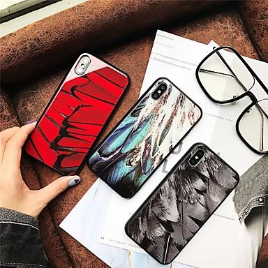 iPhone temperato Custodia 8 Per Per 8 per iPhone Piume Apple X retro iPhone Vetro iPhone Fantasia iPhone disegno 06749170 Resistente Plus X 8 UqIqOrn
