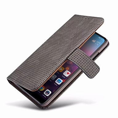 Case For Huawei P20 / P20 Pro Wallet / Card Holder / with Stand Full Body Cases Solid Colored Hard Genuine Leather for Huawei P20 / Huawei P20 Pro / Huawei P20 lite