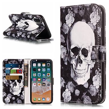 Resistente iPhone iPhone 8 Integrale Plus sintetica X iPhone carte Con Apple Porta credito 06749202 iPhone Per pelle 8 8 supporto A Teschi Custodia X iPhone di Plus portafoglio per wpq1BIT