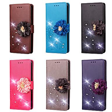 voordelige Huawei Y-serie hoesjes / covers-hoesje Voor Huawei Huawei Y6 (2017)(Nova Young) / Huawei Y5 II / Honor 5 / Huawei Y5 III(Y5 2017) Portemonnee / Kaarthouder / Strass Volledig hoesje Effen Hard PU-nahka